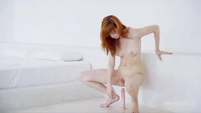 Pretty Redhead Babe Anny Aurora with a Big Toy in her Pussy