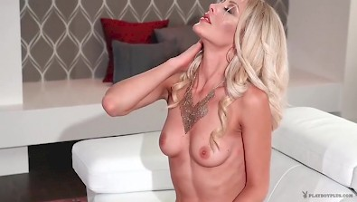 Hot Blonde bombshell Shannon Troy gets naked and poses on camera