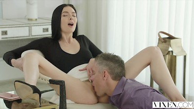 Sexy Marley Brinx has adventure with her boss