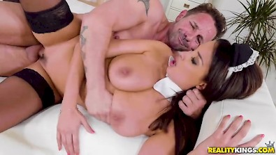 Busty Anissa Kate is a perfect french maid