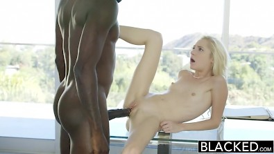 Small titted Odette Delacroix penetrated by ebony cock