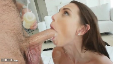 Admirable Aidra Fox gets face covered with cum