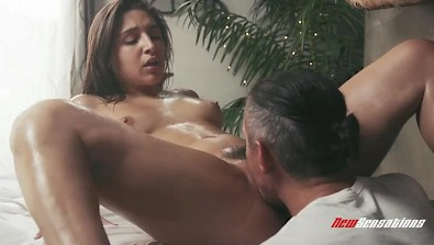 Extremely hot Abella Danger having sensual massage ended with sex
