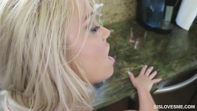 Blonde Kenzie Green doggyfucked and face creamed by her stepbro