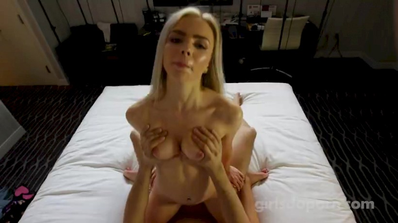 Blonde Teen Sloppy Blowjob